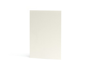 Empty greeting card isolated on white background