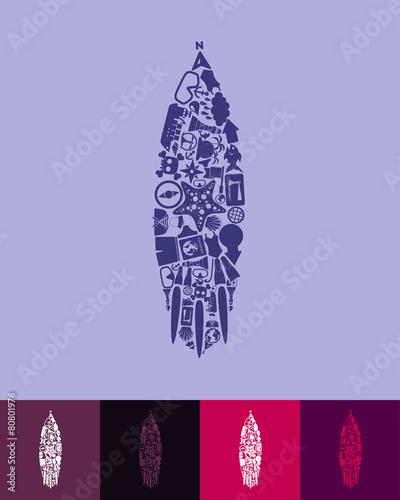obraz lub plakat ikona surfingu