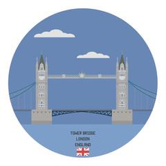 Tower bridge, London. England famous place