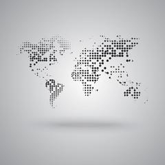 World map background..