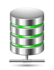 Database Icon. Vector illustration