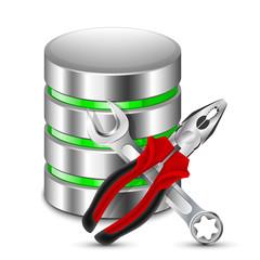 Database Configuration Icon. Vector Illustration