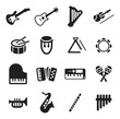 Musical Instruments Icons - 80803739