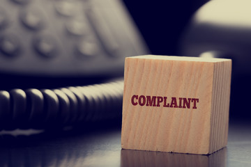 Customer services Complaint concept