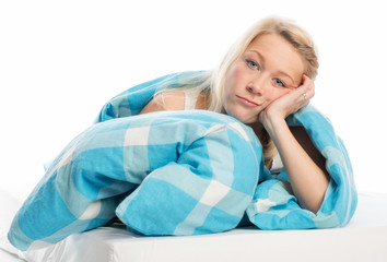 Gelangweilt im Bett