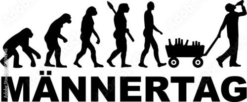 Männertag Evolution Alkohol - 80804346