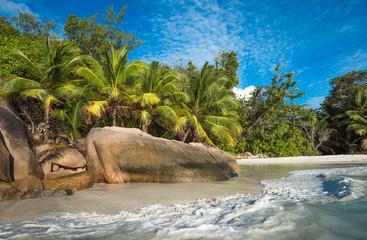 Tropical island beach Anse Lazio, Praslin, Seychelles