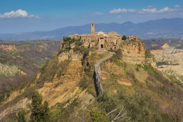 Veduta panoramica di Civita di Bagnoregio in Lazio