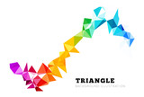Abstract triangle background - 80807966