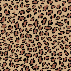 Seamless leopard texture. Animal skin background.