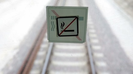 Train no smoking sign