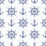 Cute nautical background. Navy vector seamless pattern