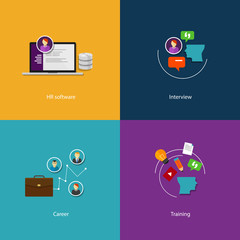 human resource icon set