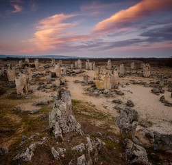 Stone Forest - rock formations in Bulgaria near Varna