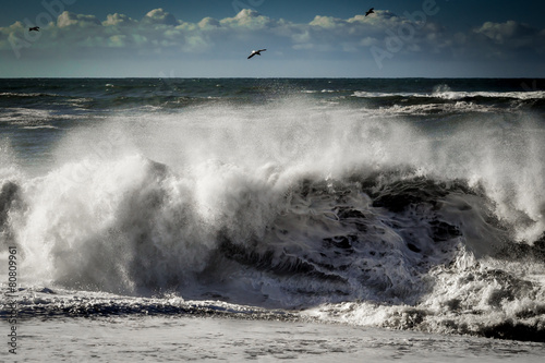 Fotobehang Golven Crashing Wave