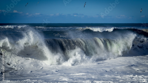 Deurstickers Water Crashing Wave