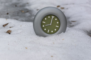 Clock And Snow