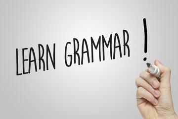 Hand writing learn grammar