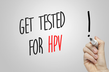 Hand writing get tested for HPV
