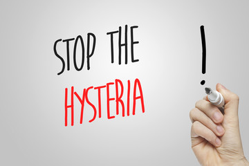 Hand writing stop the hysteria