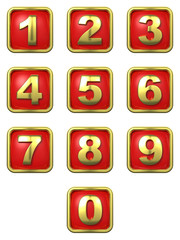 Gold Numbers in Frame.