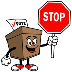 Ballot Box with Stop Sign