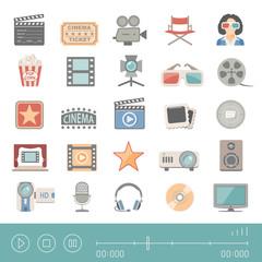 Flat Icons - Cinema