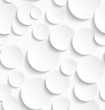 Seamless pattern of white circles with drop shadows - 80811977