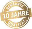 Siegel 10 Jahre Bewährte Qualität - 80812729