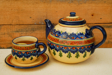 croquery pot and cup