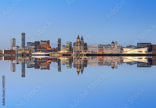 Poster Noord Europa Liverpool skyline