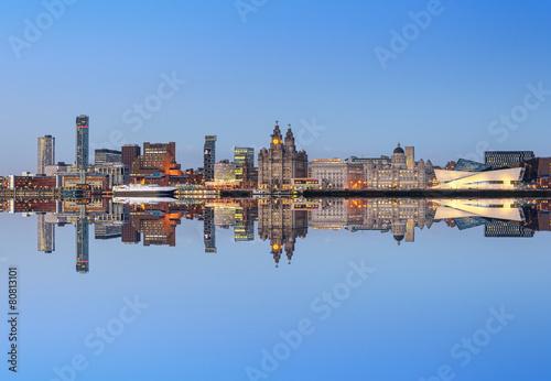 Poster Liverpool skyline