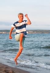Teenager beim Laufen