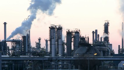 Petrochemical plant, Oil refiery motion video