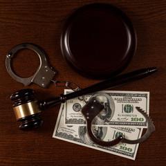 Gavel and money