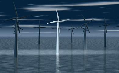 Windmolen in positief daglicht
