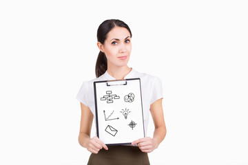 Young business woman have a new concept idea