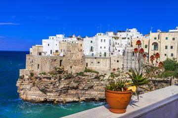 Polignano al mare - beautiful small village in rocks in Puglia