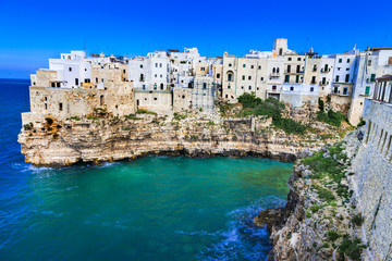 Polignano al mare - beautiful  village in rocks in Puglia, Italy