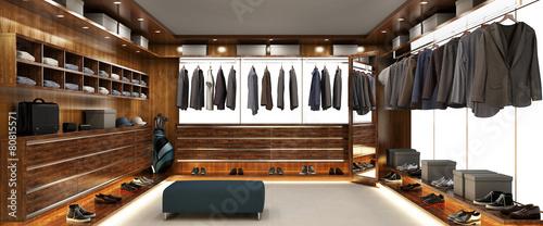 Leinwanddruck Bild Big modern wardrobe for men