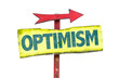 Optimism sign isolated on white