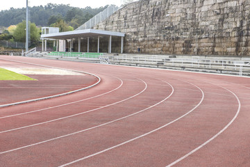 running tracks at the stadium