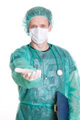 Arzt will  - isoliert