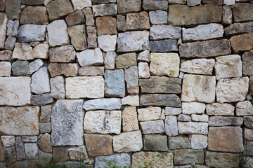 Stones stacked in a wall
