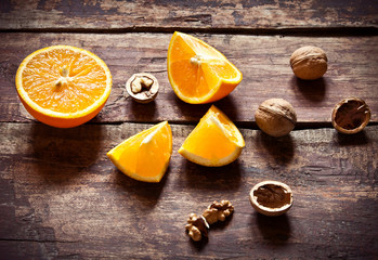 Orange and nuts