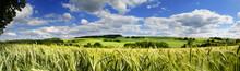 """Постер, картина, фотообои """"Saarland Panorama Natur –Landschaft bei Eiweiler"""""""