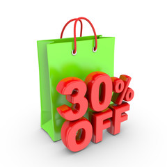 Discount on purchase of thirty percent.