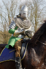 warrior on horseback medieval armor 3