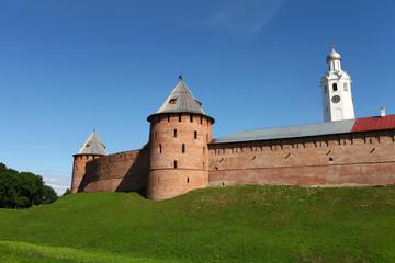 fortress walls of the Novgorod Kremlin