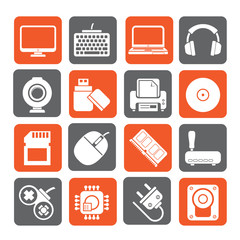 Silhouette Computer peripherals and accessories icons